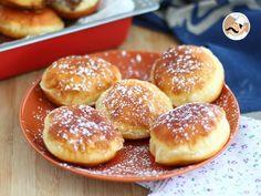 Mmm, deliciosos donuts caseros, doraditos y además rellenos de nutella! perfectos para el desayuno o la merienda! :) - Receta Postre : Donuts rellenos de nutella, berlinas por Petitchef_oficial