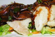 Cod and Mushroom Sauce