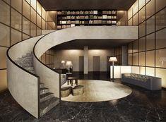 Armani Casa. Love that staircase