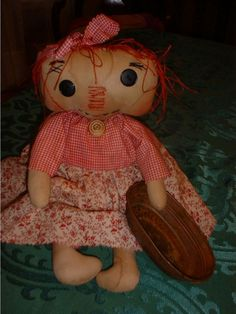 Terry Annie Primitive Doll Instant Download e Pattern