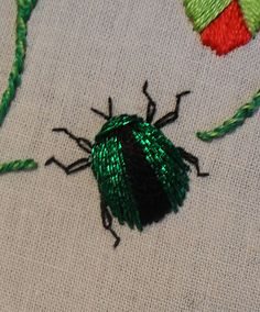 I completed the stumpwork beetle yesterday afternoon and, whilst I think I need more practice, I'll share with you how it was done here. Ho...