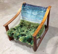 Designer rug - artistic rug creations that look like natural landscapes - Home Decoration Weaving Art, Tapestry Weaving, Paper Weaving, Weaving Projects, Textile Design, Textile Art, Table Sofa, Home Furniture, Furniture Design