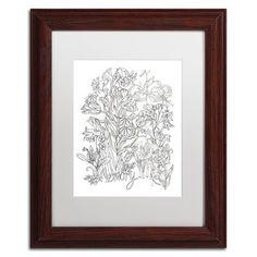 "Trademark Art 'Memory' Framed Graphic Art Print Size: 14"" H x 11"" W x 0.5"" D, Mat Color: White"