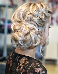 Beautiful Long Braided Hairstyle For Prom | Full Dose