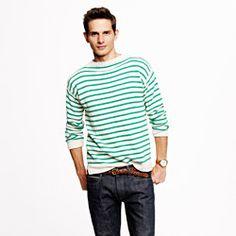 Wallace & Barnes Mockneck Striped Sweater