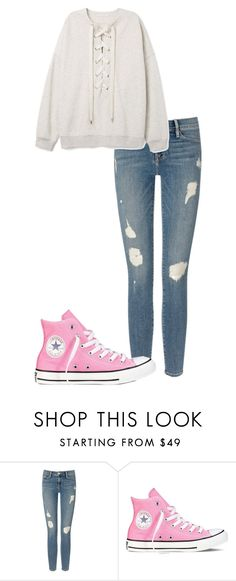"""Untitled #71"" by kbwalrus on Polyvore featuring Frame Denim and Converse"