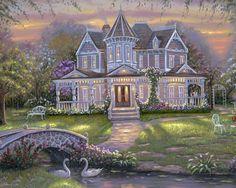 Chloe's Summer Garden | Artist: Robert Finale