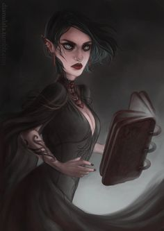 Amren by Dianulala << this is the only fan art I've seen of Amren that really captures her other worldliness