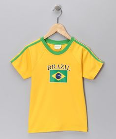 Look at this Gold & Green 'Brazil' Flag Tee - Infant & Kids on #zulily today!