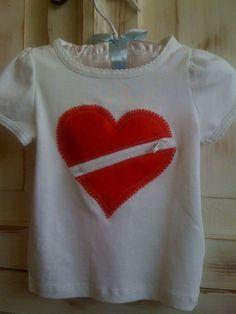 CHD Awareness Zipper Heart Shirt