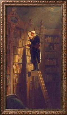"""""""An ordinary man can surround himself with two thousand books and thenceforward have at least one place in the world in which it is possible to be happy."""" (Augustine Birrell)"""