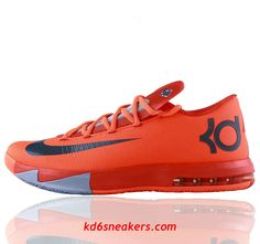 huge discount 3e484 a05cd NIKE KD VI KD6 Kevin Durant Red Basketball shoes fashion