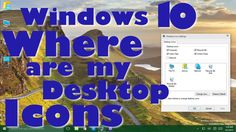 Windows 10 - Where is My Computer and My Documents Desktop Icons