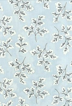 Meadow Leaf Cotton Curtain Fabric Powder blue cotton fabric with white and dark blue leaf print. Suitable for soft furnishings, curtains and upholstery. Design Textile, Design Floral, Motif Floral, Textile Patterns, Fabric Design, Floral Prints, Textiles, Print Design, Boho Pattern