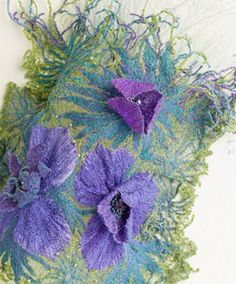 Creative Embroidery, Felt Art, Fabric Art, Spring 2015, Fabric Flowers, Knapper, Seasons, Throw Pillows, Stitch