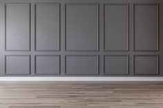 gray wall with gray picture frame moldings molding 5 Types of Wall Trim That Instantly Dress Up Your House Wall Trim Molding, Moldings And Trim, Wood Molding, Diy Molding, Casa Milano, Wall Design, House Design, Picture Frame Molding, Picture Frame Walls
