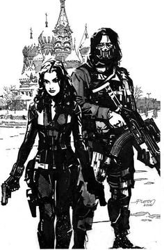 Black Widow and The Winter Soldier by John Paul Leon *