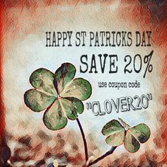 www.sibellejewelry.etsy.com All weekend long! Use the coupon code to save 20% off any purchase $10 or more☘️