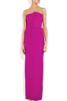 Roland Mouret|Henderson strapless puckered silk-blend organza gown|NET-A-PORTER.COM