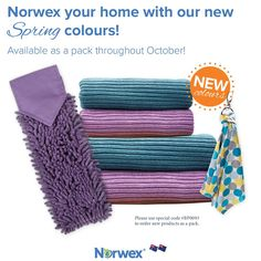 The new Norwex Australia spring colours are here! Brighten up your home with this special bundle. Available throughout October only, while stocks last. Visit the link to place your order.