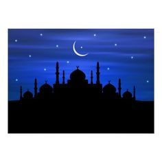 Shop Ramadan Moon & Mosque Poster created by Personalize it with photos & text or purchase as is! Small Canvas Art, Diy Canvas Art, Canvas Ideas, Silhouette Painting, Sunset Silhouette, Islamic Art Calligraphy, Calligraphy Alphabet, Cartoon Girl Images, Art Painting Gallery