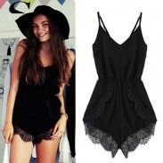 Cheap jumpsuits kids, Buy Quality jumpsuit romper directly from China jumpsuit men Suppliers: Fashion 2017 bodysuit women Strap Sleeveless Lace Chiffon Jumpsuit rompers womens jumpsuit combinaison short femme body femme Overall Shorts, Overall Jumpsuit, Black Romper, Rompers Women, Jumpsuits For Women, Skinny Overalls, Playsuit Romper, Denim Playsuit, Denim Jumpsuit