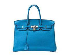borsa in pelle Hermes Mykonos Birkin bag - 35x27x20 cm