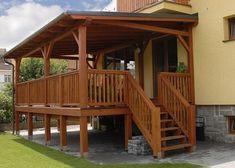 Vyvýšená terasa • NejŘemeslníci.cz Home Fashion, Pergola, Cabin, The Originals, House Styles, Outdoor Decor, House Ideas, Home Decor, Balconies