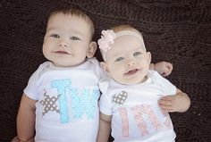 Hey, I found this really awesome Etsy listing at https://www.etsy.com/listing/160836372/boy-girl-twins-bodysuits-light-blue-and