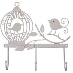 BIRD CAGE WALL HOOK - CREAM from Jash Living