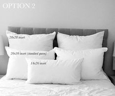 Pillow Size Guide for Full Beds pillow size and placement guide for full size beds