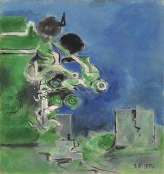 Artwork by Graham Sutherland, Study for Landscape with Ruin, Made of oil on canvas Still Life With Apples, Twisted Tree, Magazine Art, Art Market, Graham, Oil On Canvas, Study, Landscape, Artist