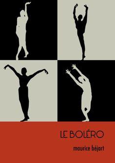 minimalist poster bolero-maurice béjart by jibeyatelier