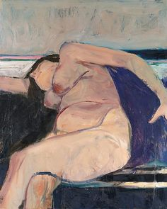 "igormaglica: ""Richard Diebenkorn (1922–1993), Reclining Nude - Pink Stripe, 1962. oil on canvas, 30 ¾ x 24 ¾ inches """