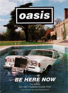 Oasis - Be there Now Rock Posters, Band Posters, Concert Posters, Photo Wall Collage, Picture Wall, Banda Oasis, Oasis Lyrics, Oasis Album, Rock Indé