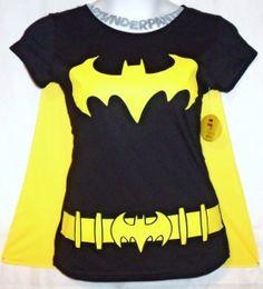 women's batman shirt with cape | ... cs~BATMAN~batg irl~CAPE~GOTH~ cosume~COSPLAY ~T-SHIRT~&~tor rid~BLING
