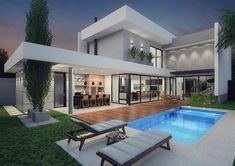 casas casa arquitetura piscina modernas luxo luxuosas fachadas moderna farinazzo projetos terreas piscinas sobrado arquitectura modelo salvo uma fernando renda