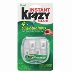 Elmers instant Krazy all purpose glue liquid, 4 single use tubes, 4 ea | Elmers instant krazy all purpose glue liquid, 4 single use tubes convenient for storage, airtight - keeps product fresh case. myotcstore.com - Ezy Shopping, Low Prices & Fast Shipping.