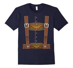 Lederhosen Oktoberfest T-Shirt or Halloween Costume