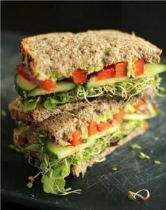 the ultimate veggie sandwich more easy healthy veggie sandwich healthy ...