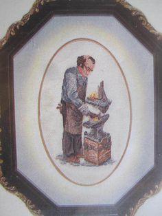 See Sally Sew-Patterns For Less - Joe The Blacksmith Petit Point Louise Gregoire Original Needlework Kit 117, $15.00 (http://stores.seesallysew.com/joe-the-blacksmith-petit-point-louise-gregoire-original-needlework-kit-117/)