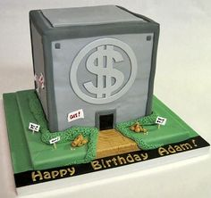 Scrooge McDuck's Money Bin Cake  made by Dream Cakes by Robyn