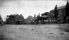 Batteuse à céréales du milieu du vingtième siècle en Charente