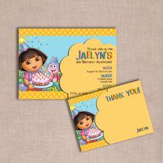 Dora birthday invitation DIY printable via Etsy