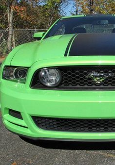Who loves a Pony? Cool Green #Mustang GT Premium! Click the pic to see this amazing car #spon