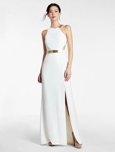 Halston heritage cape gown bloomingdales wedding dress ideas halston metal plate crepe gown junglespirit Images