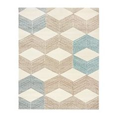 http://www.ikea.com/us/en/catalog/products/60290803/  MARSLEV Rug, high pile, turquoise, beige $249.00