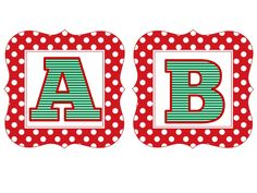 Red Polka Christmas Letters