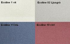 Ecoline 1 Vit / Ecoline 2 Ljusgrå / Ecoline 11 Blå / Ecoline 10 Röd Från LC Möbler Ecoline 1 White / Ecoline 2 Light Grey / Ecoline 11 Blue / Ecoline 10 Red From LC Furniture
