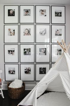 Gallery Wall Refresh || A New Take On A Classic | Home On Oak Modern Gallery Wall, Gallery Wall Frames, Picture Wall, Picture Frames, Photo Wall, Matte Black Spray Paint, Photo Print Sizes, Custom Mats, Large Photos